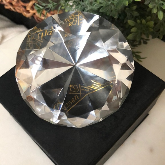 Rosenthal Other - Rosenthal Diamond Cut Clear Crystal Paperweight
